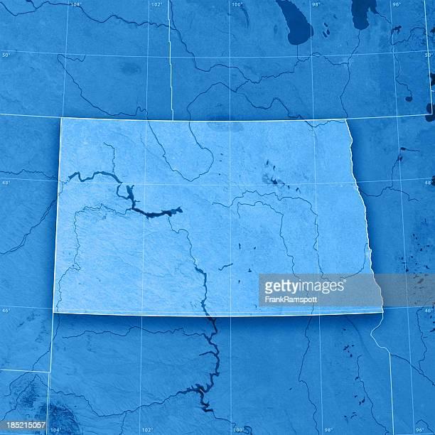 North Dakota Topographic Map