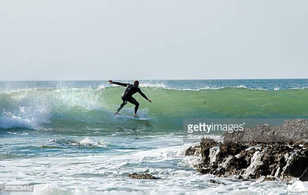 A North Devon surfer