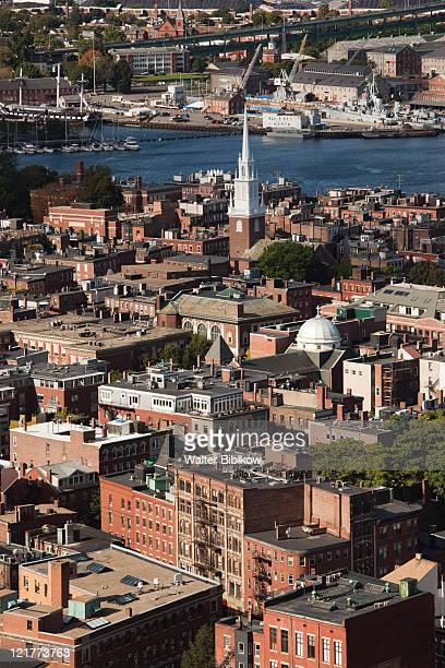 North End and Old North Church, Boston, Massachusetts, USA