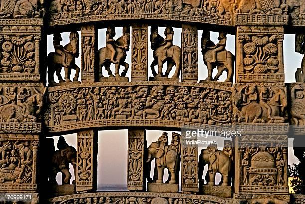 North gate of stupa Sujata's offering Sanchi Madhya Pradesh India