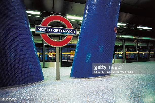 North Greenwich underground station designed by Alsop Lyall Architects London England United Kingdom
