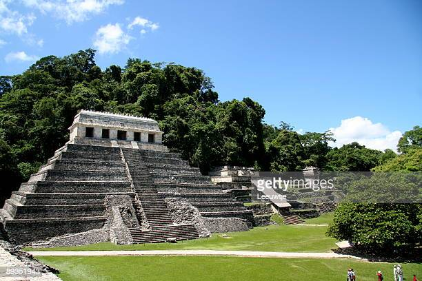 North grupo temple complex Palenque Mexico