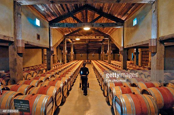 North Island Hawkes Bay Napier Tom McDonald Wine Cellar At Church Road Winery Built As Tribute To The Legendary Father Of Quality Red Winemaking In...