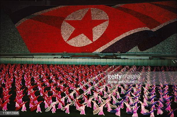 North Korea A Journey Into The Country Of Forbidden Photographs On August 2005 In Pyongyang North Korea Here 100 000 Actors Take Part In The Arigang...