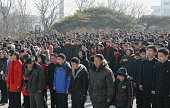 PYONGYANG North Korea Citizens gather in Pyongyang on Dec 19 following news that leader Kim Jong Il has died