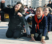 PYONGYANG North Korea Citizens in Pyongyang react on Dec 19 to news that leader Kim Jong Il has died