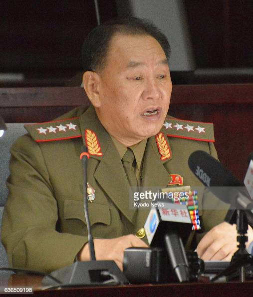 PYONGYANG North Korea Kim Yong Chol director of North Korea's Reconnaissance General Bureau tells a group of foreign diplomats gathered in Pyongyang...