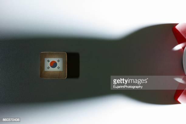 North Korea nuclear crisis concept