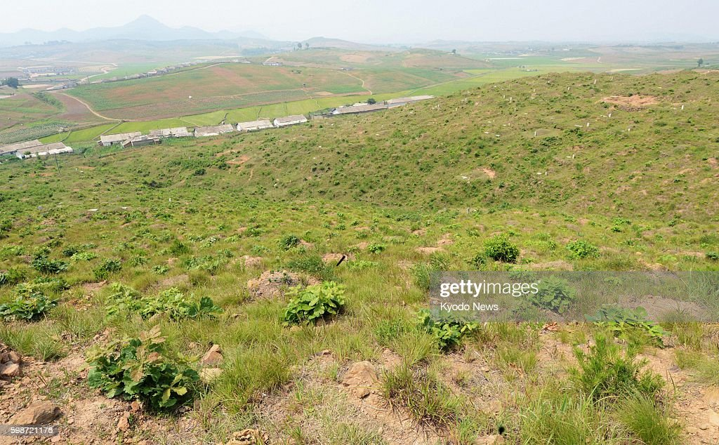 PYONGYANG North Korea Photo shows a site in the vicinity of Pyongyang which North Korea says accommodates the remains of Japanese soldiers military...