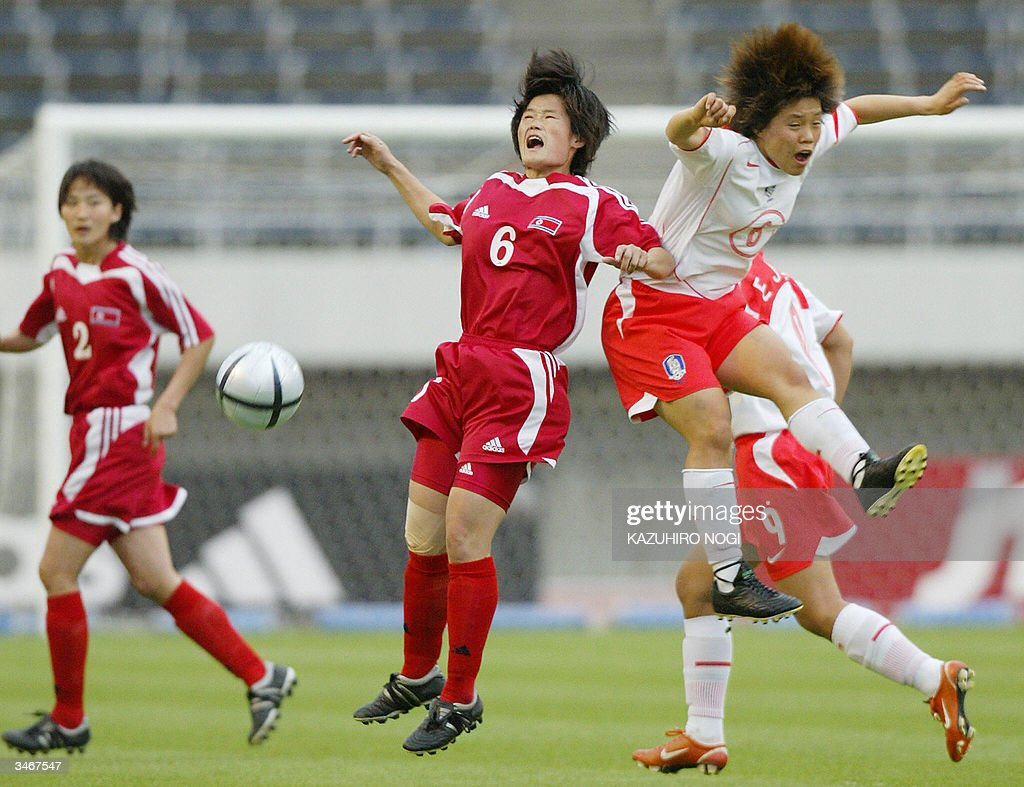 North Korean defender Ra Mi Ae C 6 an