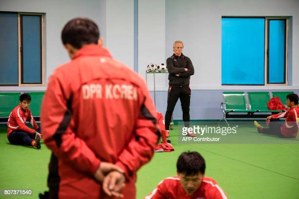 North Korean football head coach Jorn Andersen is seen during a training of the national team on November 9 in Pyongan NorthKorea VG / Annemor LARSEN