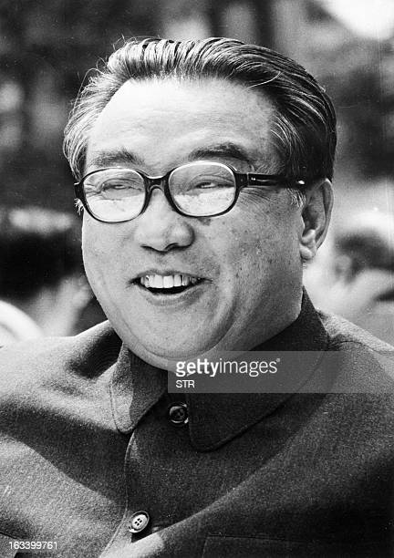 North Korean President Kim Il Sung shown in file photo dated July 1976