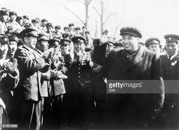 North Korean President Kim Il Sung shown in undated file photo visiting Beijing
