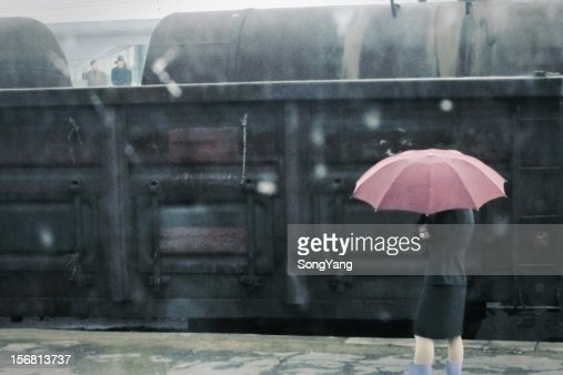 North Korean train crew : Stock Photo