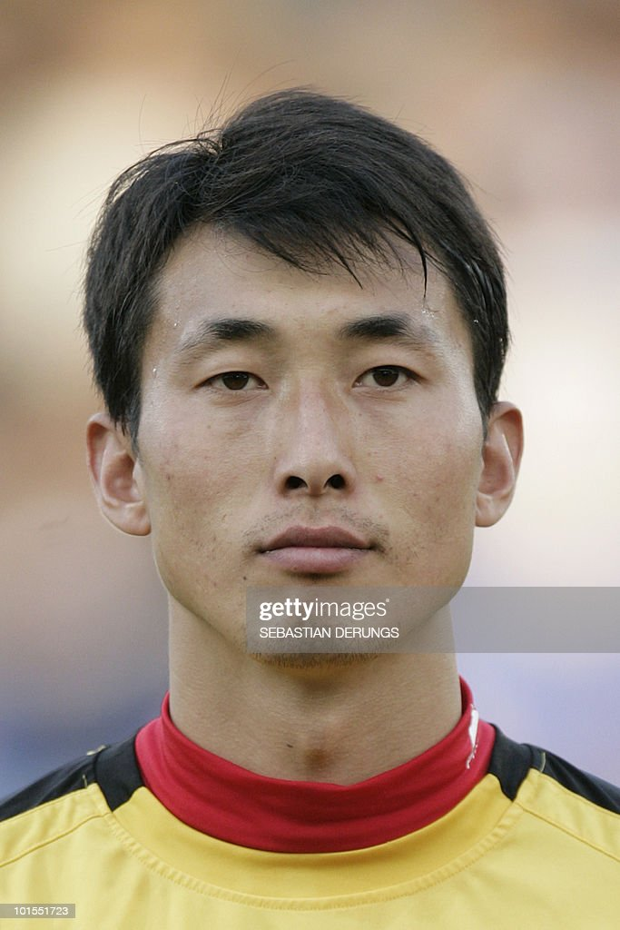 North Korea's Myong Guk Ri is seen before a friendly football match against Greece in Altach on May 25, 2010 ahead of their participation to the FIFA World Cup 2010 in South Africa.