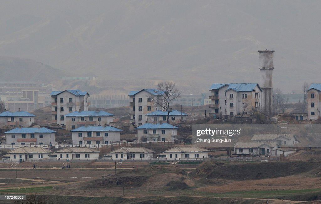 North Korea's propaganda village of Gijungdong is seen from an observation post on April 23, 2013 in Panmunjom, South Korea. The tension at Korean Peninsula remains high as North Korea's ballistic missiles have been ready to launch ahead of North Korean Army foundation celebration day on April 25.