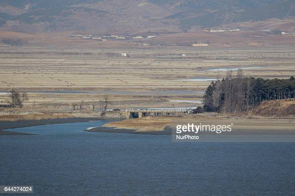North Korea's town Haechangpo is viewed from the peace observation post in Ganghwa near the border with North Korea South Korea North Korea denied...