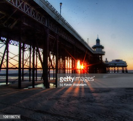 North Pier At Sunset