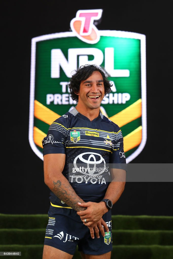 North Queensland Cowboys captain Johnathan Thurston is introduced during the 2017 NRL Season Launch at Martin Place on February 23, 2017 in Sydney, Australia.