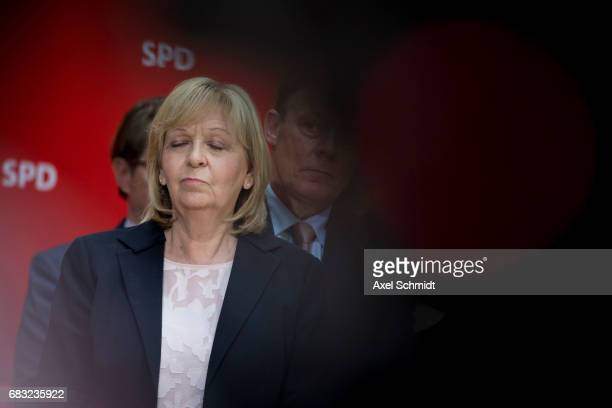 North RhineWestphalia SPD lead candidate Hannelore Kraft speaks to the media the day after state elections in North RhoneWestphalia in which the SPD...