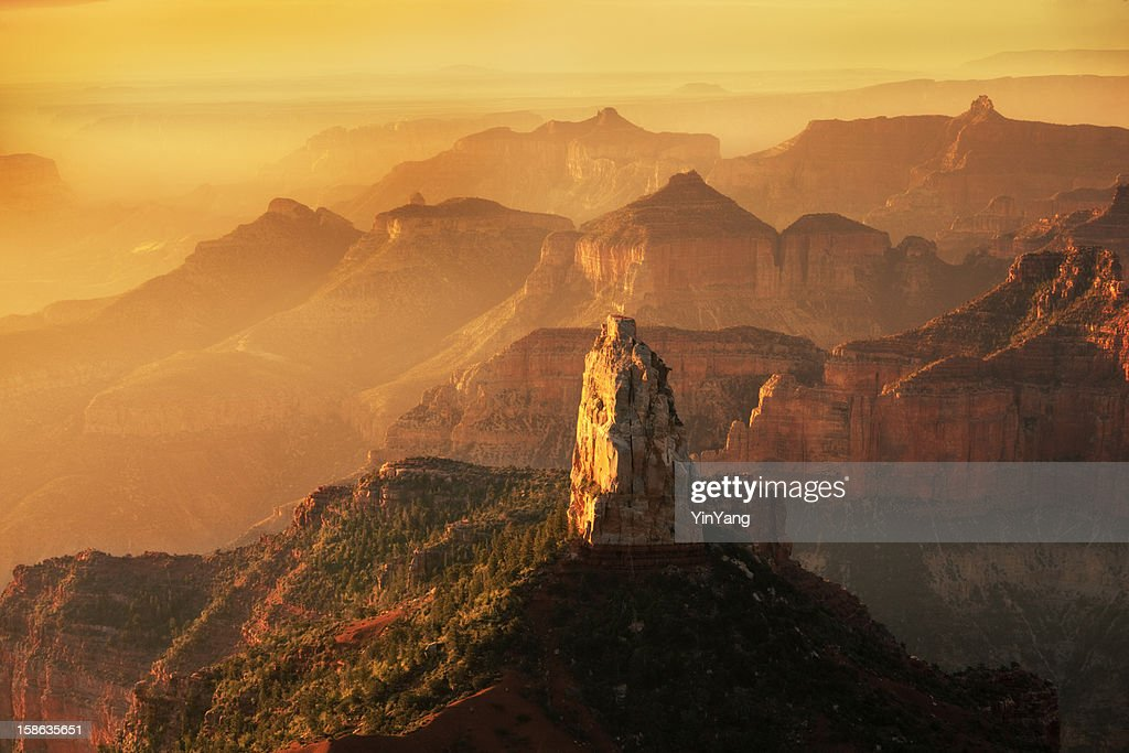 North Rim Point Imperial Sunrise at Grand Canyon National Park : Stock Photo