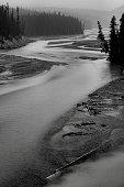 Landscape featuring the North Saskatchewan River from Banff National Park.