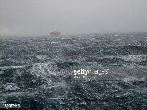 North Sea Oilrig Storm