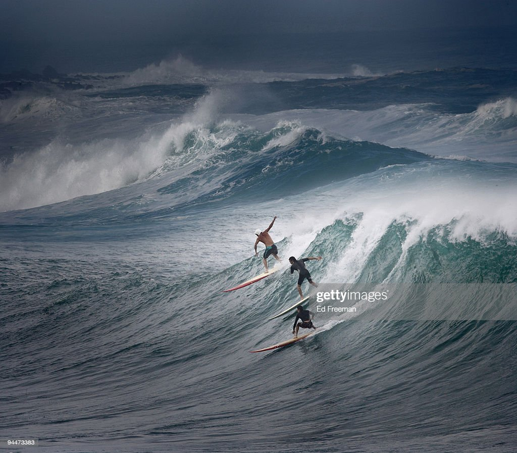 North Shore Dining Room: North Shore Surfing In Oahu Hawaii Stock Photo