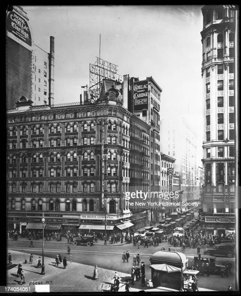 North side of 43rd Street looking east across Broadway New York New York early twentieth century