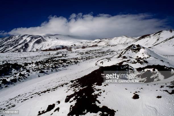 North slope of Mount Etna in the Monte Nero area Etna Park Sicily Italy