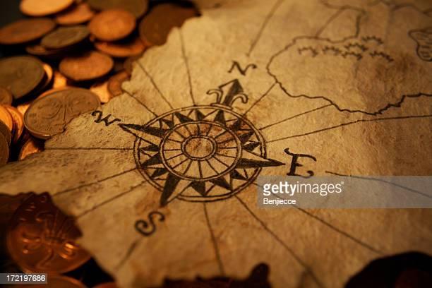 North to buried treasure