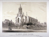 North view of the Church of St James Clapham London c1850