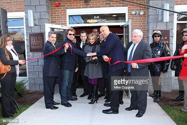 North Ward Councilman Anibal Ramos Jr musician Jon Bon Jovi designer Kenneth Cole HELP USA Chariman Maria Cuomo Cole City of Newark Mayor Cory Booker...