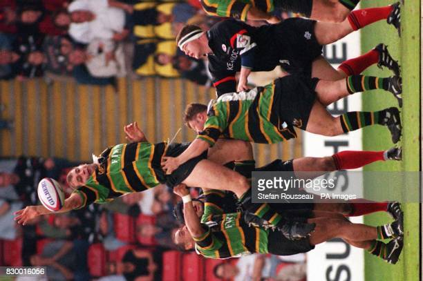 Northampton perfect the art of lifting to get their man to the ball first in a lineout against Saracens during their Allied Dunbar Premiership One...