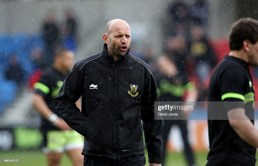 Northampton Saints Director of Rugby Jim Mallinder before the Aviva Premiership match between Sale Sharks and Northampton Saints at A J Bell Stadium on March 22, 2014 in Salford, England