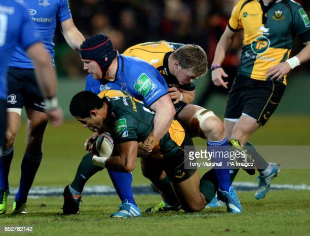 Northampton Saints' Ken Pisi is tackled by Leinster's Sean O'Brien during the Heineken Cup match at Franklins Gardens Northampton