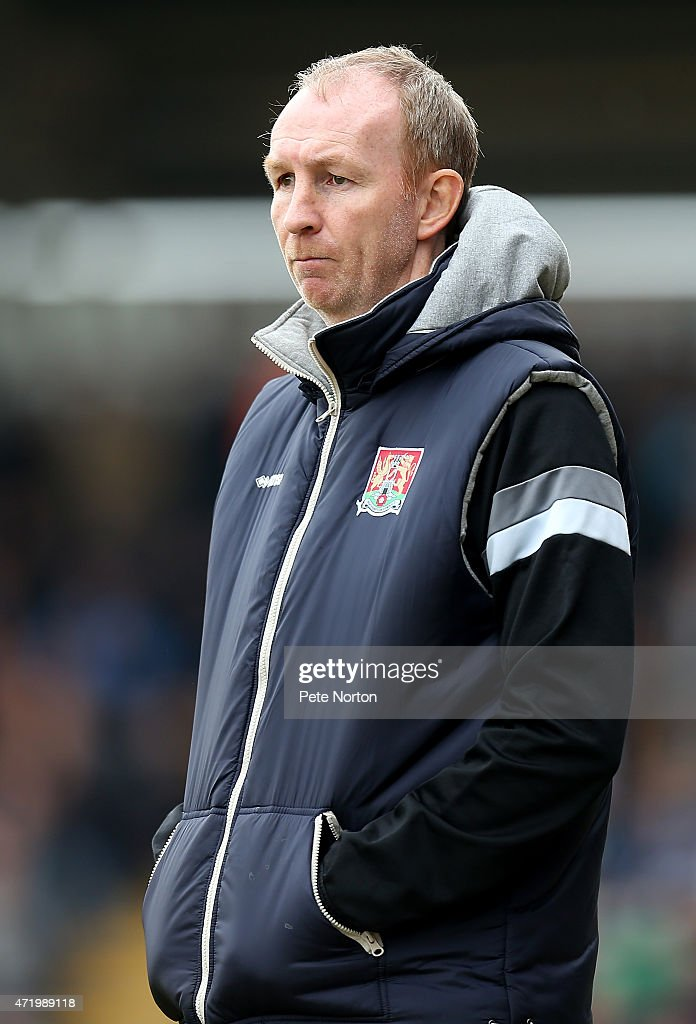 Northampton Town assistant manager Alan Knill looks on during the Sky Bet League Two match between Northampton Town and Wycombe Wanderers at Sixfields Stadium on May 2, 2015 in Northampton, England.