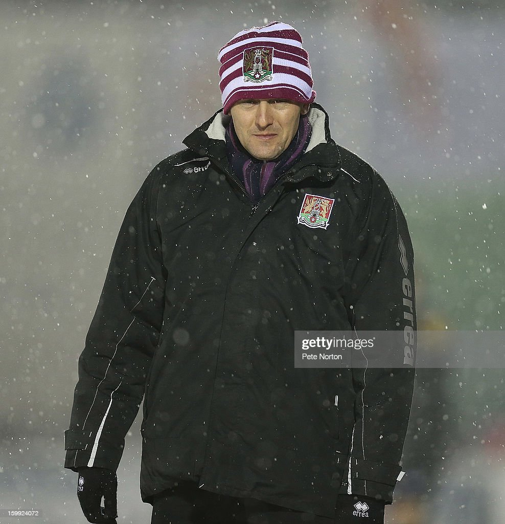 Northampton Town manager Aidy Boothroyd looks on during the npower League Two match between Aldershot Town and Northampton Town at the EBB Stadium on January 22, 2013 in Aldershot, England.