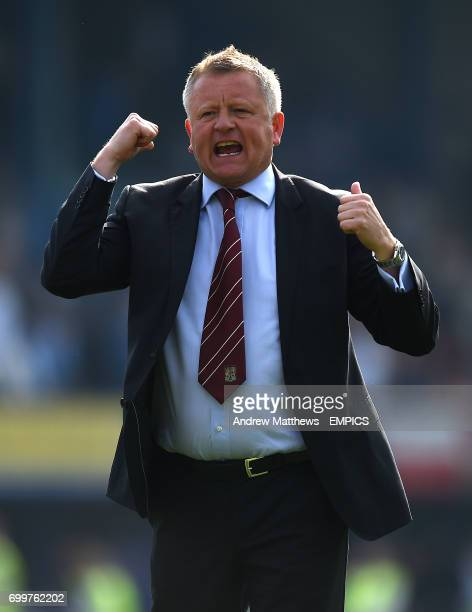 Northampton Town manager Chris Wilder after the final whistle