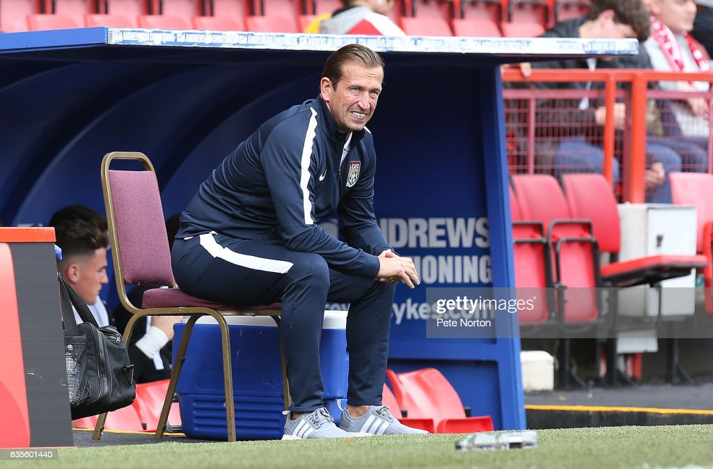 Northampton Town manager Justin Edinburgh looks on prior to the Sky Bet League One match between Charlton Athletic and Northampton Town at The Valley on August 19, 2017 in London, England.