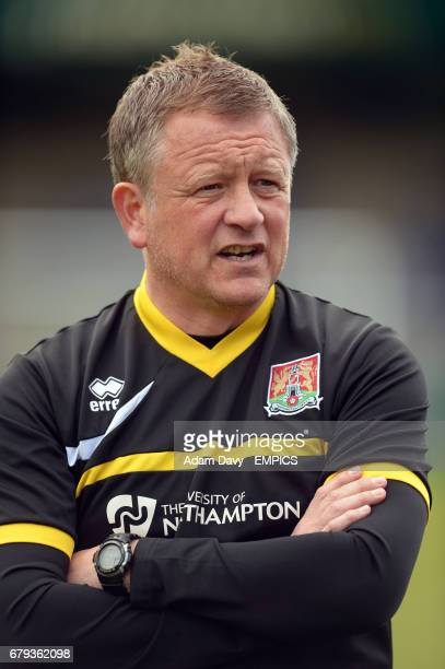 Northampton Town's Manager Chris Wilder before the game
