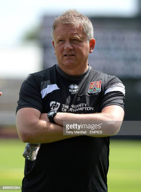 Northampton Town's Manager Chris Wilder