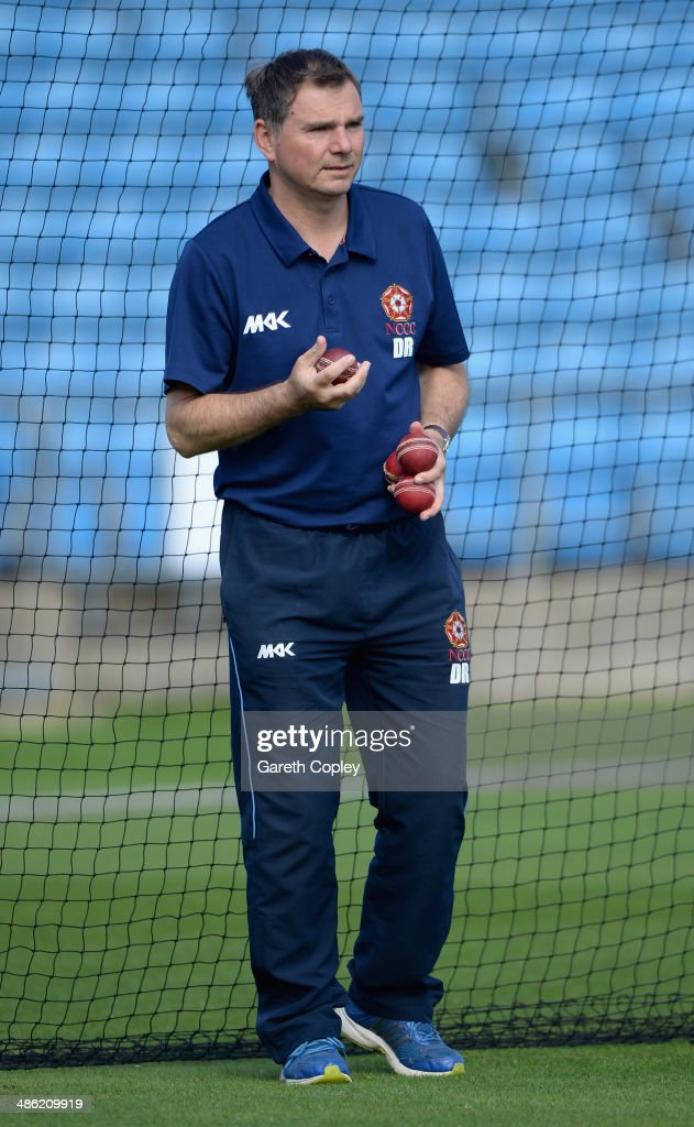 Northamptonshire coach David Ripley ahead of day four of the LV County Championship division One match between Yorkshire and Northamptonshire at Headingley on April 23, 2014 in Leeds, England.