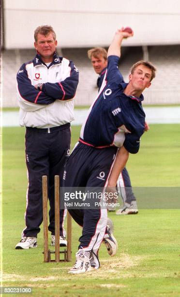 Northamptonshire offspinner Graeme Swann during a training session at The Oval in London ahead of the Fourth Test between England and New Zealand