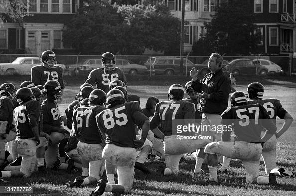Northeastern University football team and coach Boston Massachusetts 1970s