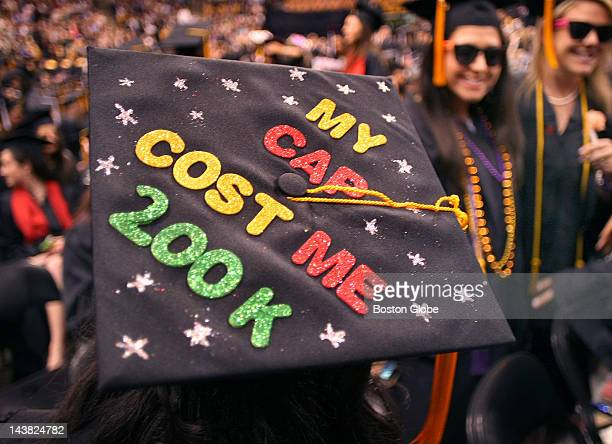 Northeastern University held its commencement ceremony at TD Garden on Friday Nipali Patel put this saying on her cap as she graduated from the...