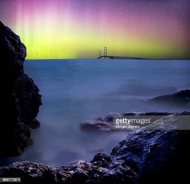 Norther lights over the Mighty Mac