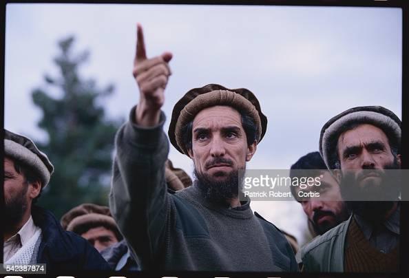 Northern Alliance Leader Ahmed Shah Masoud