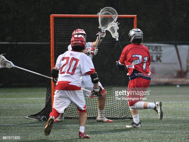 Northern Attack Mason Chaney scores on Glenelg goalie Brian Doughty in the second half during the Maryland State 3A/2A lacrosse championship game on...