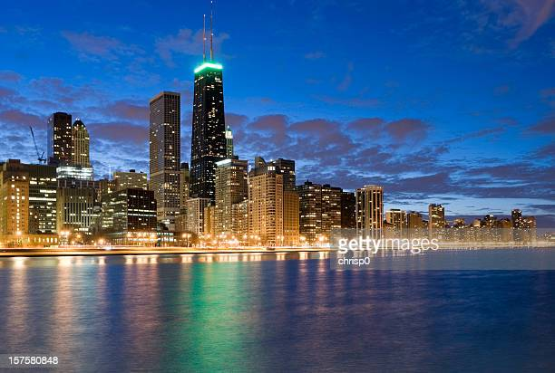 Northern Chicago Skyline at Dusk